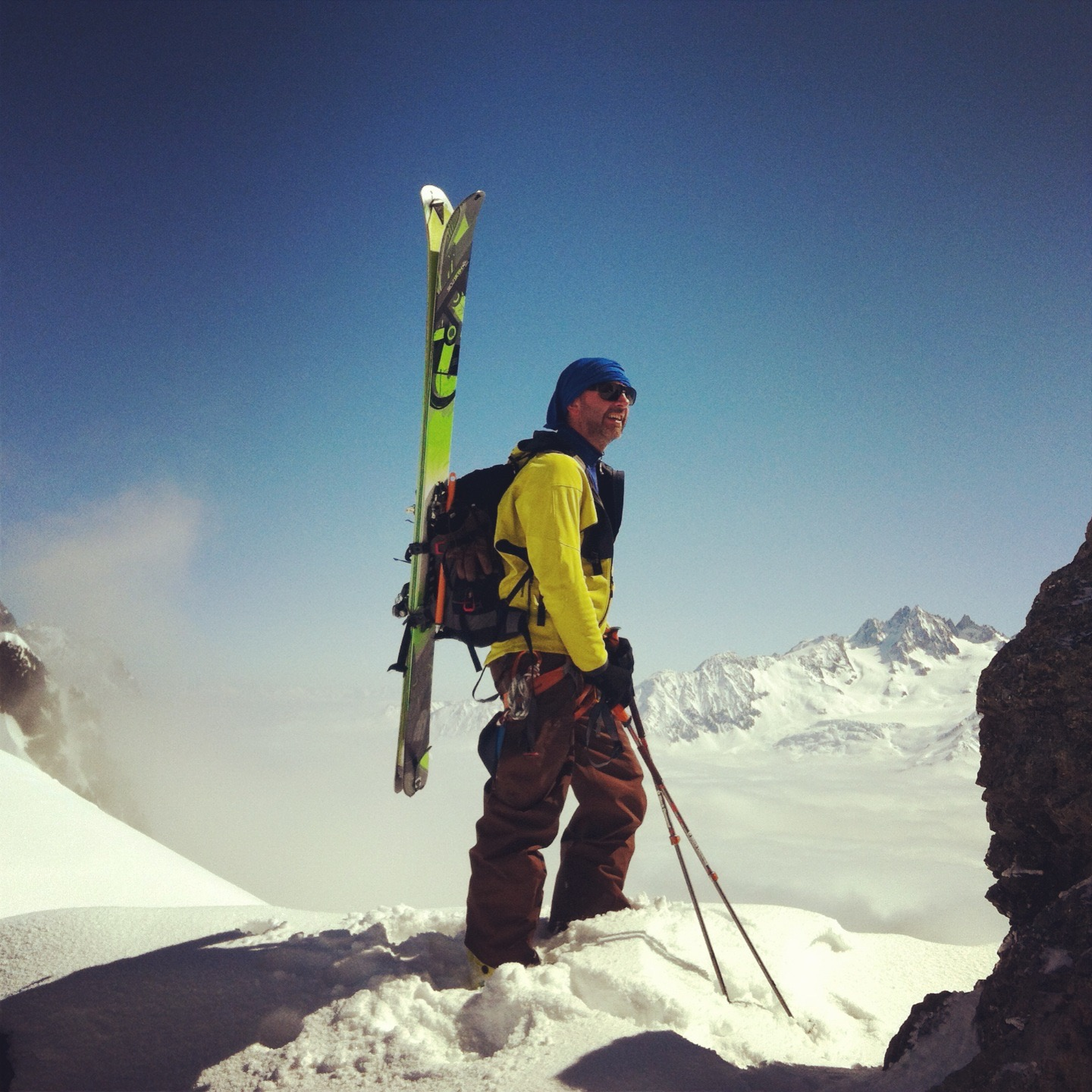 ski touring - at the top