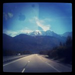 Mont Blanc from the Autoroute Blanche