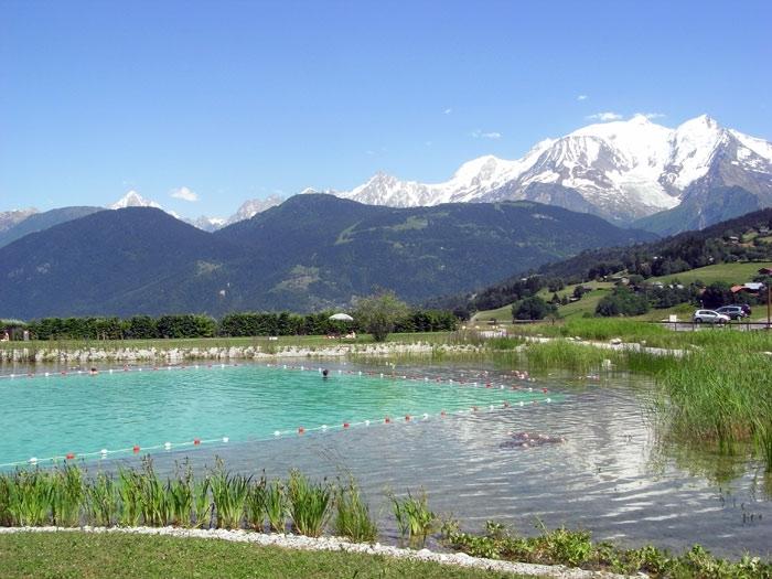 Swimming lake at Combloux