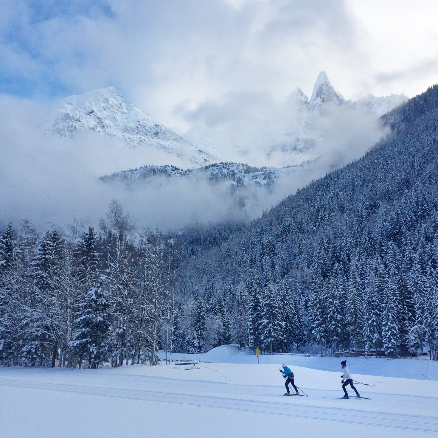 crosscountry skiing in chamonix