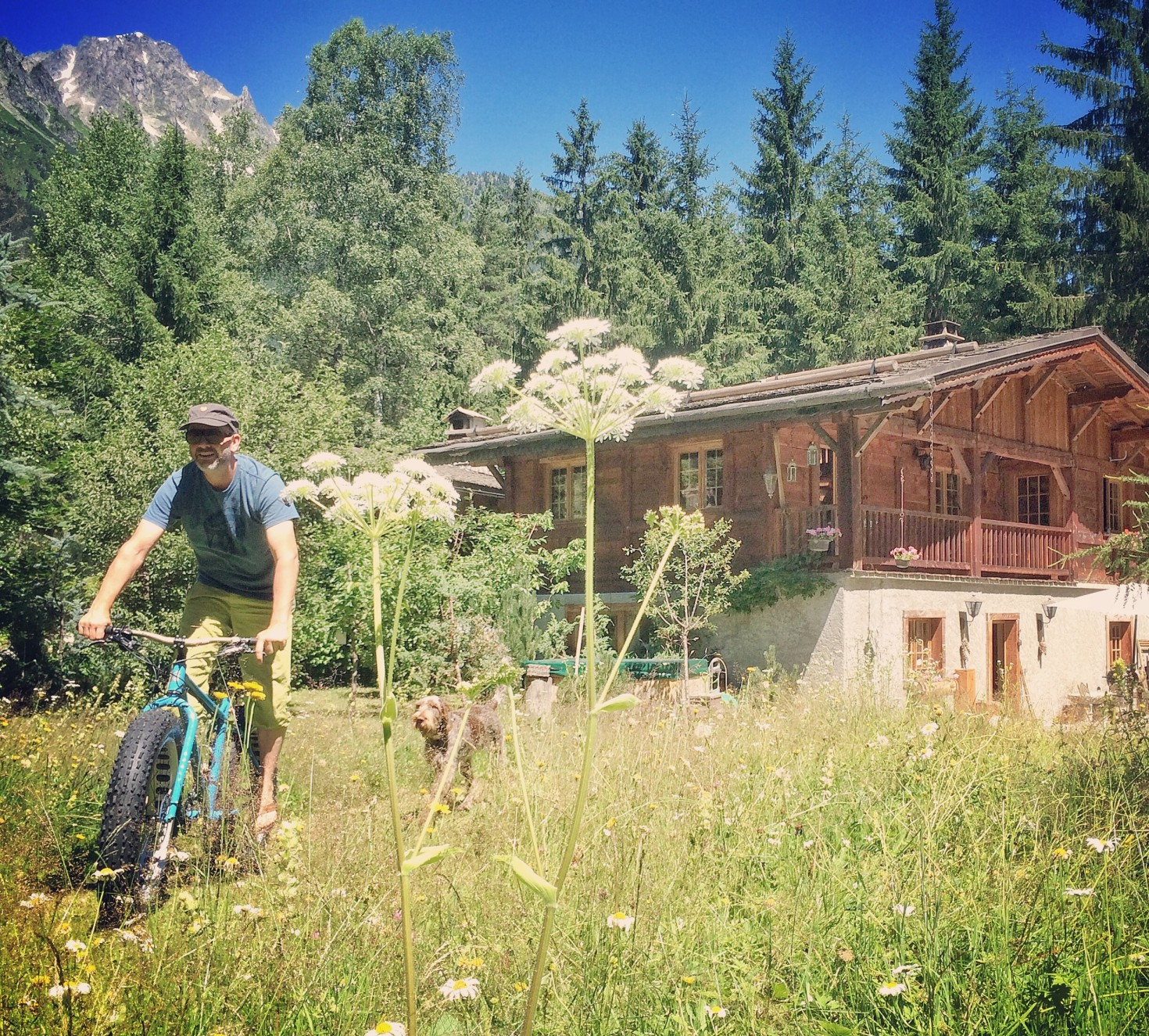 Fatbiking out of the chalet!