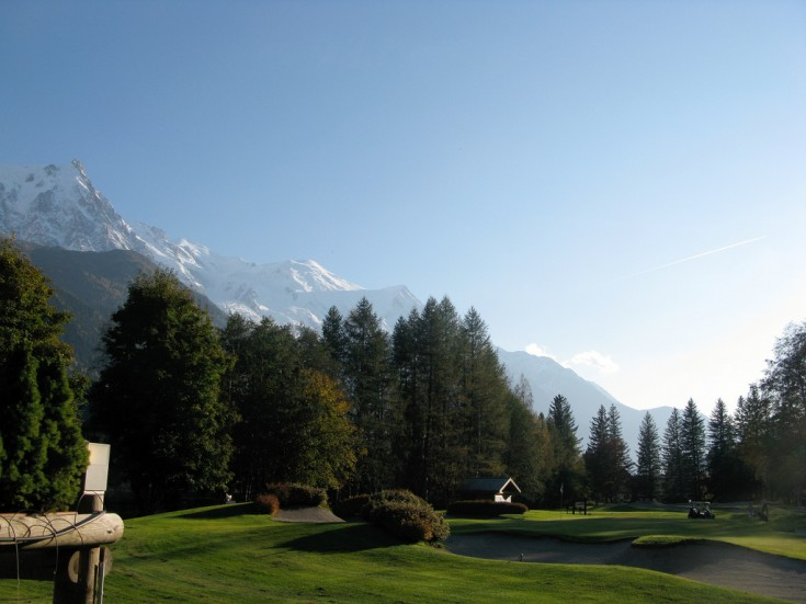 Mont Blanc view from the clubhouse terrace