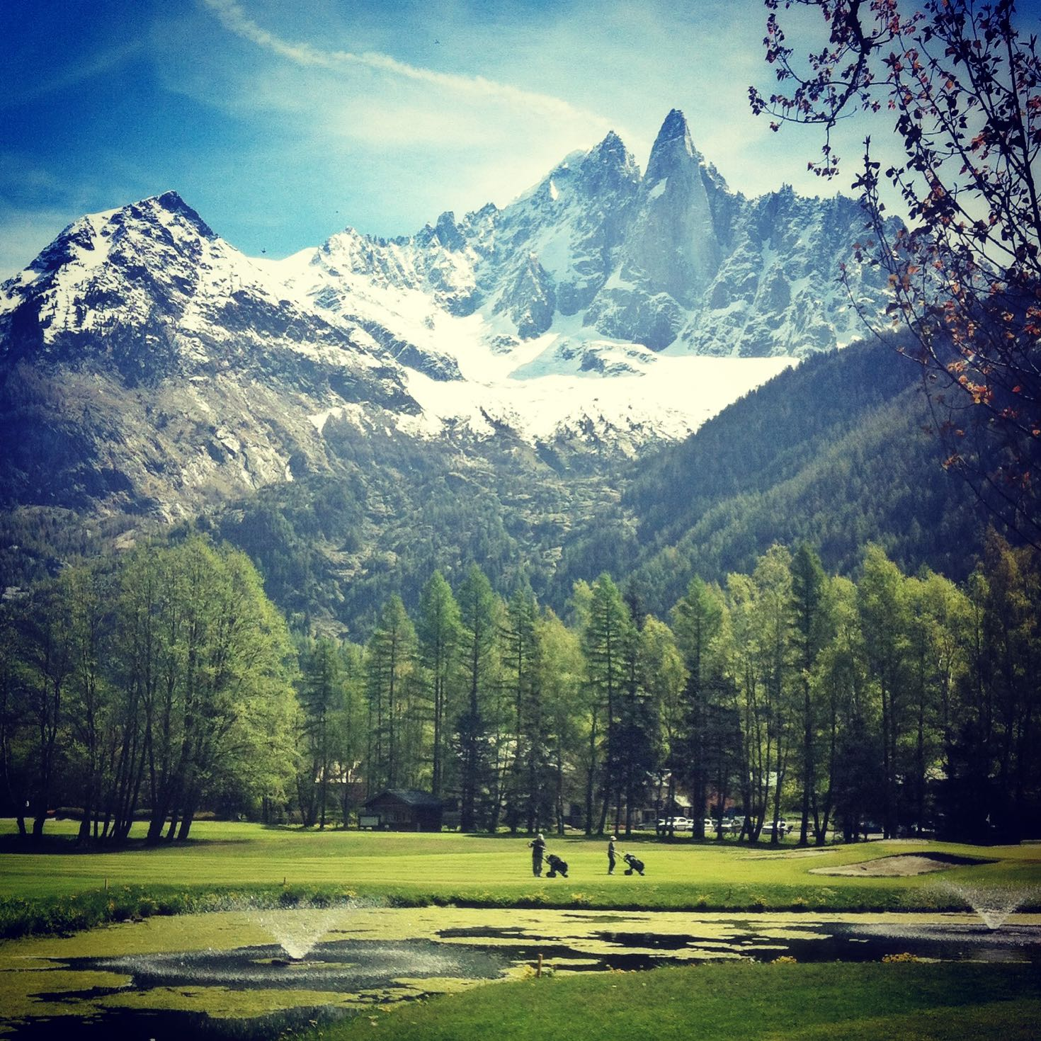 Chamonix Golf course under the Dru