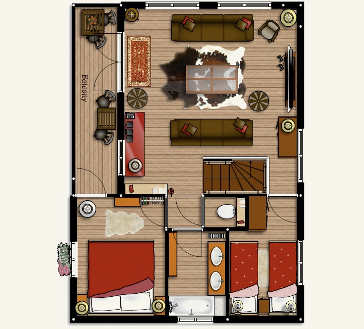 Chamonix chalet floorplans:First Floor