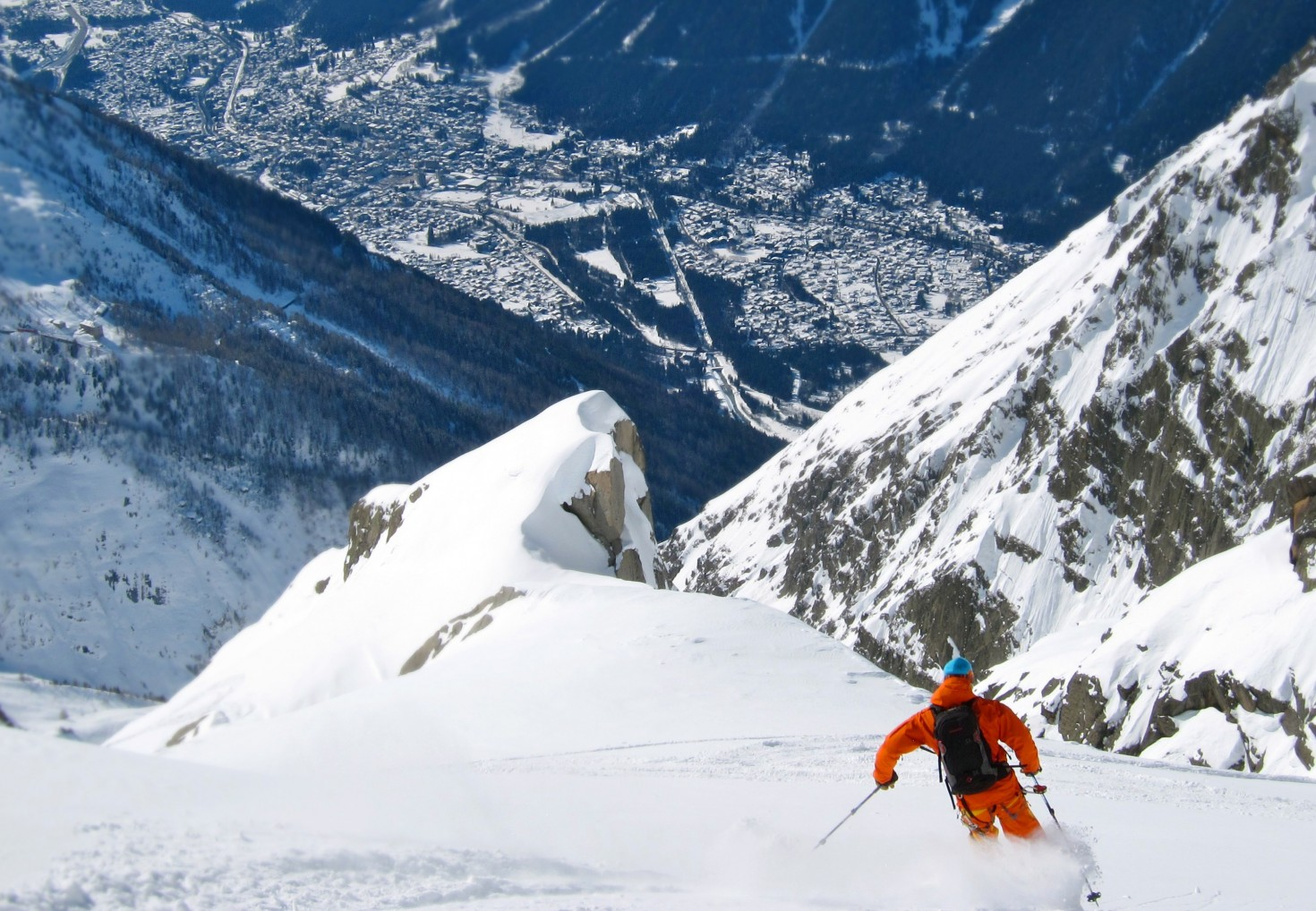 Chamonix off-piste classic, the Pas de Chevre