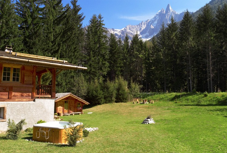 The view of the Dru from the garden