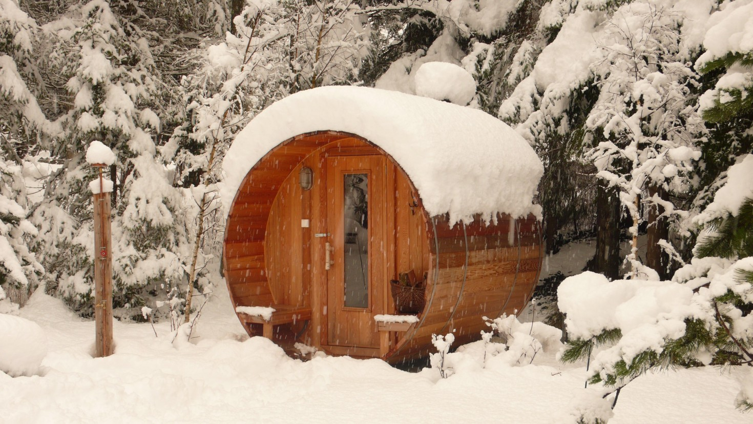 chamonix chalet and garden photos in winter