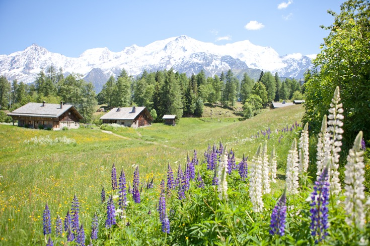 Mont Blanc behind Charousse