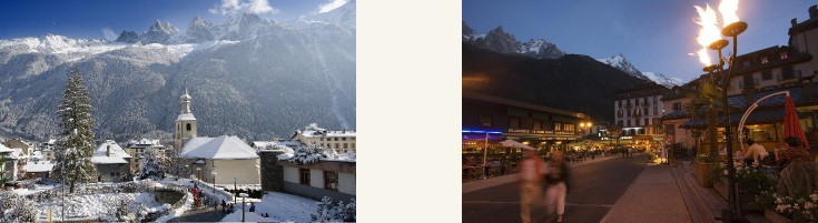 Winter in Chamonix town © Chamonix TO