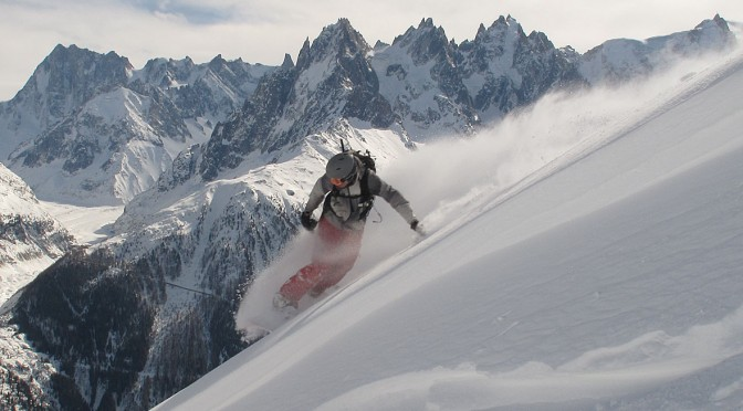 Snowboarding at Flegere