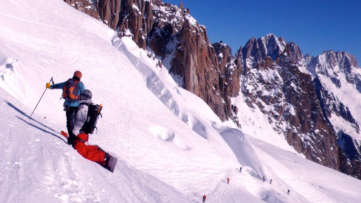 Heading down the Vallee Blanche