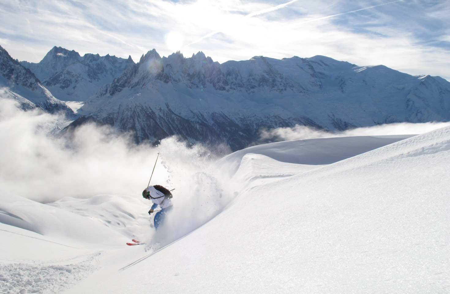 Perfect powder day at Flegere