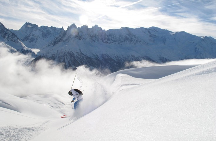 Winter in Chamonix - Perfect powder day at Flegere