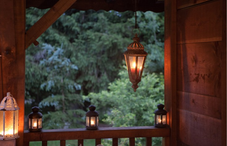 Lanterns on the balcony