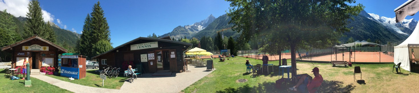 Chamonix tennis club panorama